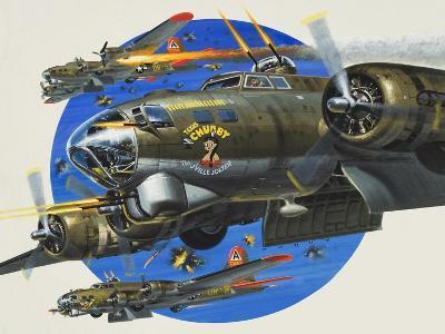 91st Usaaf Bombardment Group-Wilf Hardy-Giclee Print