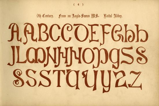 '9th Century. From an Anglo-Saxon MS. Battel Abbey', 1862-Unknown-Giclee Print