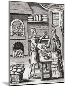 A 16th Century Baker's Shop. from Illustrierte Sittengeschichte Vom Mittelalter Bis Zur Gegenwart b