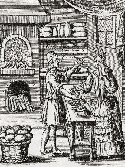 A 16th Century Baker's Shop. from Illustrierte Sittengeschichte Vom Mittelalter Bis Zur Gegenwart b--Giclee Print