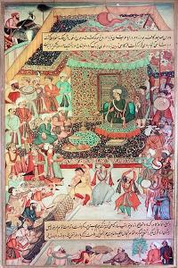"A 16th Century Illustration of a 14th Century Persian Story ""The History of the Mongols"""