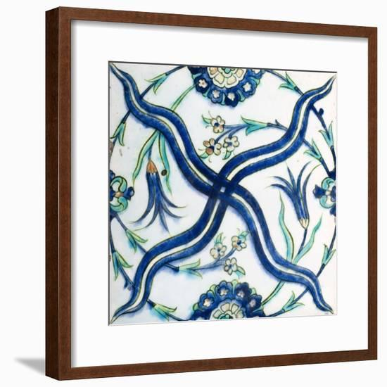 A 17th Century Ottoman Tekfur Ceramic Tile--Framed Giclee Print