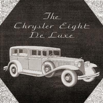 A 1930's Advertisement for a Chrysler Eight De Luxe Car. from the Literary Digest Published 1931--Giclee Print
