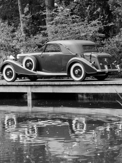 A 1933 Hispano-Suiza K6 Reflected in a Lake--Photographic Print