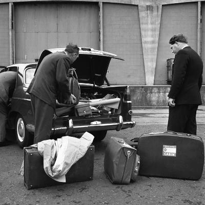 A 1961 Austin Westminster Being Loaded with Luggage on Amsterdam Docks, Netherlands 1963-Michael Walters-Photographic Print