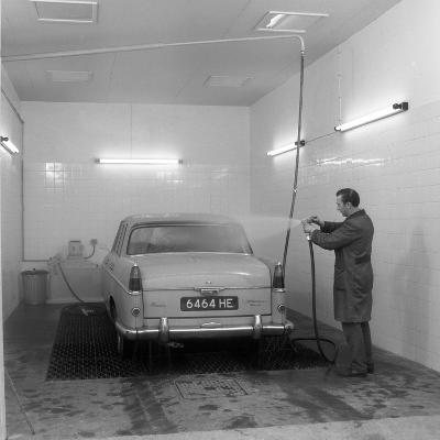 A 1961 Austin Westminster in a Car Wash, Grimsby, 1965-Michael Walters-Photographic Print