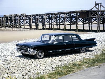 A 1961 Cadillac Presidential Limousine on a Beach--Photographic Print