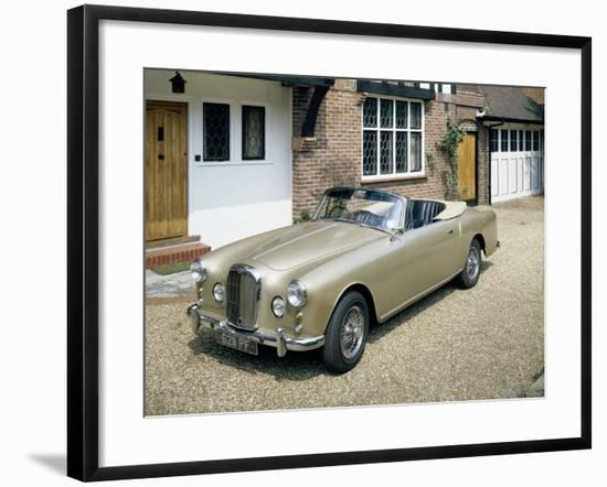 A 1963 Alvis Car Parked on a Gravel Driveway--Framed Photographic Print