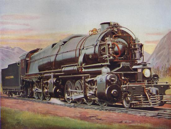 'A 300-Ton American Mallet Type Freight Engine. Pennsylvania Railroad', 1926-Unknown-Giclee Print