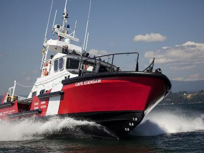 A 47-Ft Lifeboat of the Canadian Coast Guard Plies the Ocean Waters-Pete Ryan-Photographic Print
