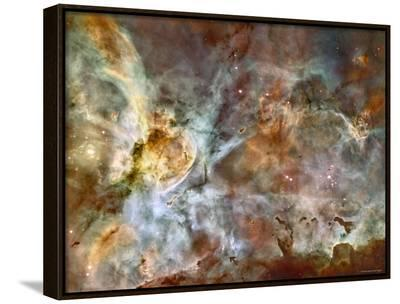 A 50-Light-Year-Wide View of the Central Region of the Carina Nebula-Stocktrek Images-Framed Canvas Print