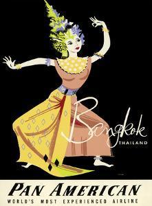 Bangkok, Thailand - Pan American Airlines (PAA) - Thai Woman Classical Dancer by A. Amspoker