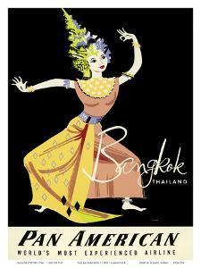 Bangkok, Thailand - Pan American Airlines (PAA) - Thai Woman Classical Dancer by A^ Amspoker