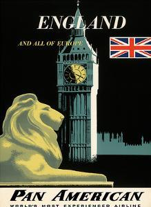 Pan American Airlines (PAA) - England And All Of Europe- Big Ben and British Flag by A^ Amspoker
