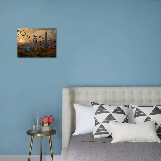 A Astronaut Is Greeted By A Swarm Of Butterflies On An Alien World Photographic Print Stocktrek Images Art Com