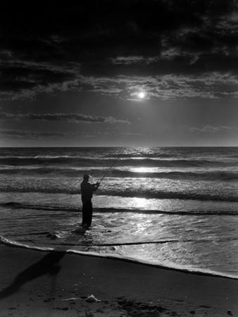 Atlantic Surf Casting by A. Aubrey Bodine