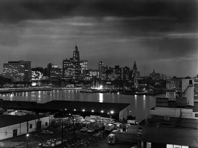 City of Baltimore at Night by A. Aubrey Bodine