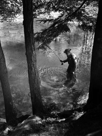Fishing in the Shade by A. Aubrey Bodine