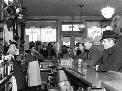 L. Coni Cafe at Clinton and Baltimore Streets, Baltimore, Maryland 1940 by A. Aubrey Bodine
