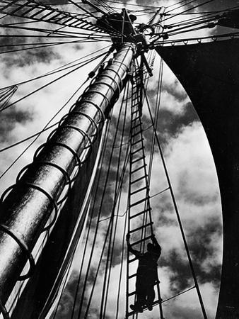 Lines Up the Mast of the Doris Hamlin by A. Aubrey Bodine