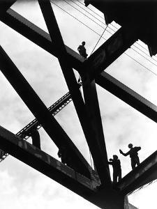 Looking Up - Morgantown Bridge by A. Aubrey Bodine