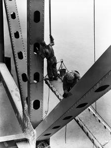 Morgantown Bridge, West Virginia 1948 by A. Aubrey Bodine