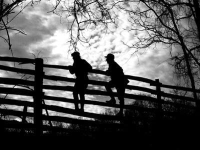 On the Fence by A. Aubrey Bodine