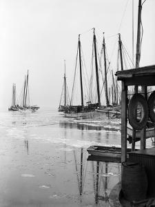 Oyster Dredging Fleet Frozen in at Spa Creek, 1936 by A. Aubrey Bodine