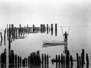 Oyster Tonger, Tilghman Island, Maryland by A. Aubrey Bodine