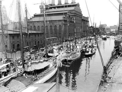 Pratt Street Harbor, Baltimore, Maryland by A. Aubrey Bodine