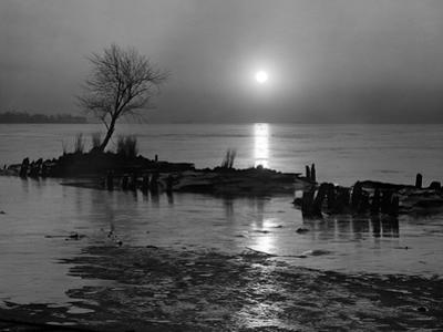 The Marsh - Late Evening Scene by A. Aubrey Bodine