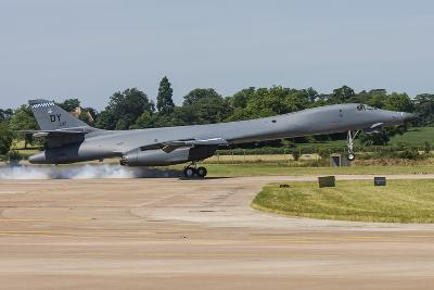 A B-1B Lancer of the U.S. Air Force Touches Down at Raf Fairford-Stocktrek Images-Photographic Print