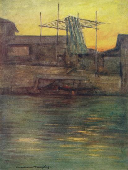 'A Back Canal, Osaka', c1887, (1901)-Mortimer L Menpes-Giclee Print