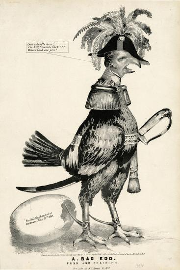 A Bad Egg, Fuss and Feathers, 1852-Nathaniel Currier-Giclee Print