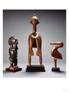A Baga Dance Crest, Ra-Bomp Ra-Feth, a Baga Female Figure and a Fine Baga Bird, A-Bemp