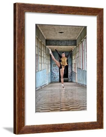 A Ballerina Dances Wearing Pre-Columbian Gold Jewelry Replicas-Kike Calvo-Framed Photographic Print