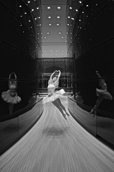 A Ballerina Dancing in the New Edward P. Evans Hall at Yale University-Kike Calvo-Premium Photographic Print