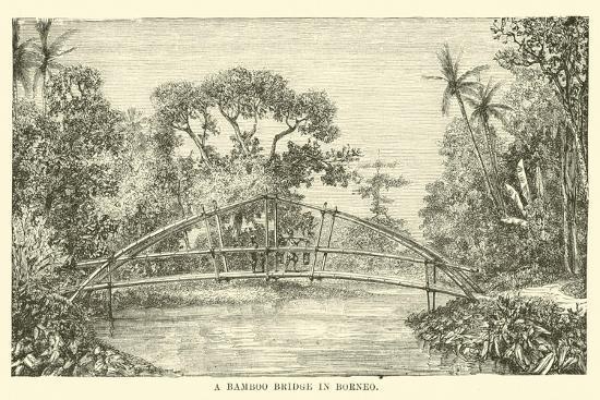 A Bamboo Bridge in Borneo--Giclee Print