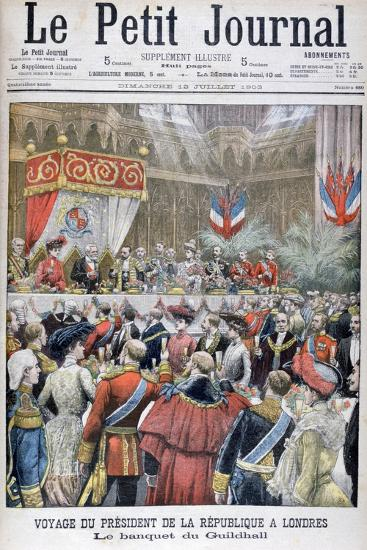 A Banquet for the Visiting French President, Guildhall, London, 1903--Giclee Print