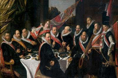 A Banquet of the Officers of the St. George Militia Company, 1616-Frans Hals-Giclee Print