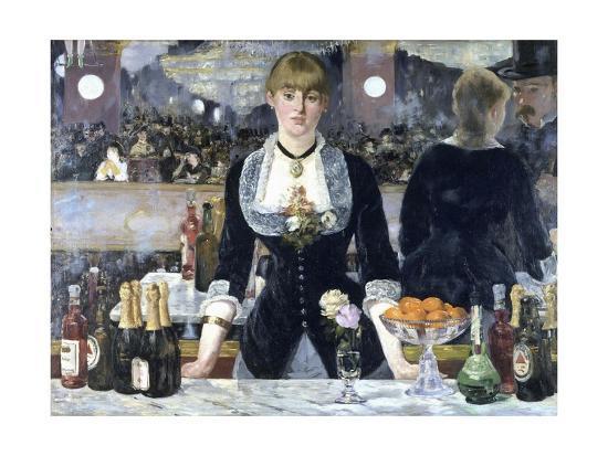 A Bar at the Folies-Bergere-Edouard Manet-Giclee Print