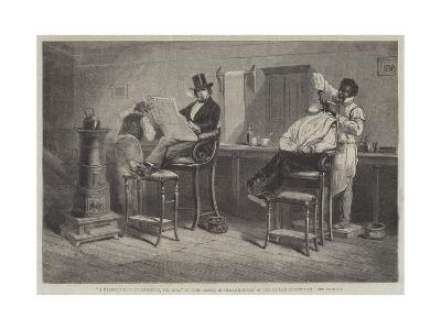 a barber's shop at richmond, virginia giclee print by eyre crowe ...
