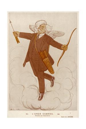 French Musician Gabriel Faure as an Angel