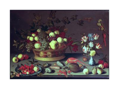A Basket of Grapes and Other Fruit-Balthasar van der Ast-Giclee Print