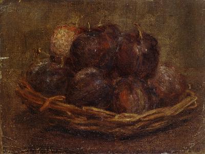 A Basket of Plums, 1869 - 1869-Ignace Henri Jean Fantin-Latour-Giclee Print