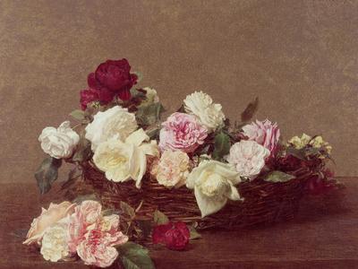 A Basket of Roses, 1890-Henri Fantin-Latour-Giclee Print