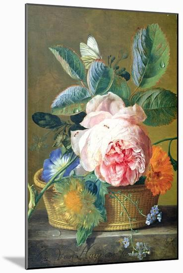 A Basket with Flowers, 1740-45-Jan van Huysum-Mounted Giclee Print