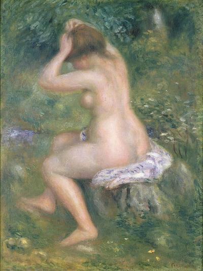 A Bather, c.1885-90-Pierre-Auguste Renoir-Giclee Print
