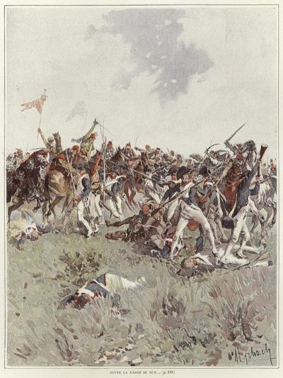 A Battle of the French Revolutionary War-Felicien Baron De Myrbach-rheinfeld-Giclee Print