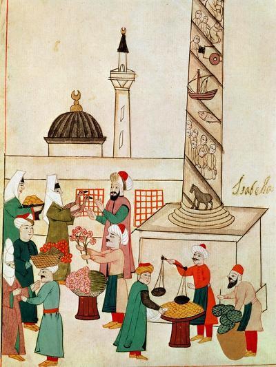 A Bazaar in Istanbul, circa 1580--Giclee Print